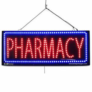 High Quality Large Led Open Signs Pharmacy 13x32 Led factory 2618