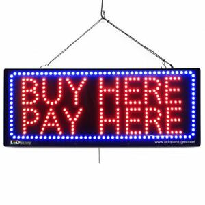 High Quality Large Led Open Signs Buy Here Pay Here 13x32 Led factory 2620