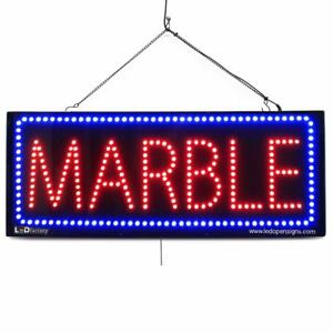 High Quality Large Led Window Signs Marble 13x32 Led factory 2623