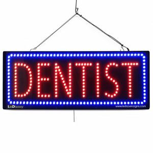 High Quality Large Led Open Signs Dentist 13x32 Led factory 2637