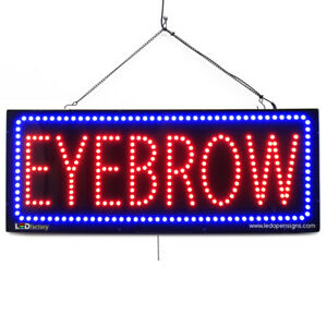 High Quality Large Led Open Signs Eyebrow 13x32 Led factory 2721