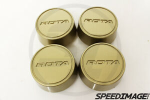Rota Wheels Moda Center Caps Gold Replacement Gt3 Grid V Titan Dpt