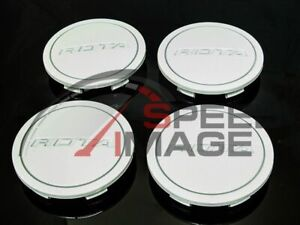 Rota Wheels Z Center Caps White Replacement G Force Grid V Titan Dpt