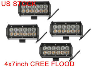 4 X 7 inch 36w Cree Led Work Light Bar Flood Driving 4wd Offroad Truck Jeep 6