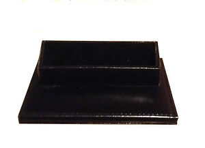 Genuine Leather Business Card Holder Desk Display Black With Gift Box