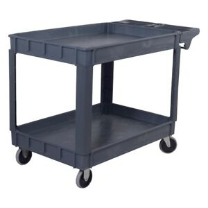 2 Tiers Home 46 X 25 X 33 Utility Heavy Duty Plastic Tool Cart 2 Shelves New