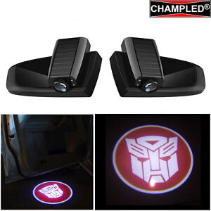 Champled Transformers Led Door Wireless Projector Logo Shadow Lights Emblem Car