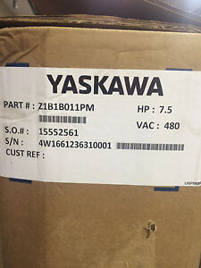 Yaskawa 2 contactor Bypass Drive 7 5hp 480v Pn Z1b1b011pm new Never Used
