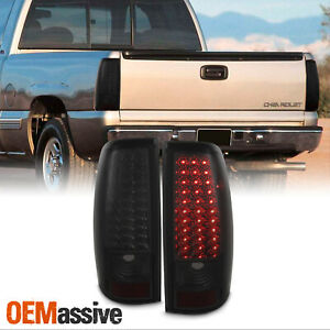 Fit Smoked 99 02 Chevy Silverado 1999 03 Gmc Sierra Pickup Led Tail Lights Lamps