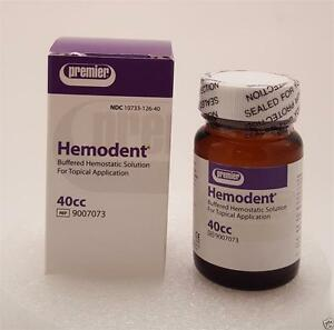 Dental Premier Hemodent Buffered Hemostatic Solution 4 Topical Application