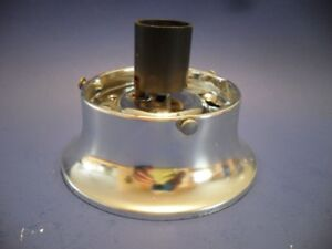 Vintage Satin Chrome Metal Bathroom Wall Ceiling Light Socket Fixture Kenskill