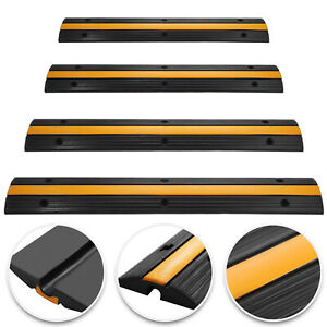4pcs 1 channel Rubber Cable Protector Ramp Electrical Vehicle Wire Cover