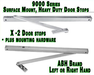 2pcs 24 Stainless Steel Ss Abh 9024 Heavy Duty Overhead Surface Mount Door Stop