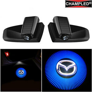 Champled Mazda 2 Led Door Wireless Projector Logo Shadow Lights Emblem Car