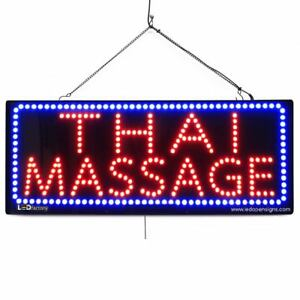 High Quality Large Led Open Signs Thai Massage 13 x32 Led factory 2625