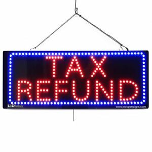 High Quality Large Led Open Signs tax Refund 13 x32 Led factory 2644