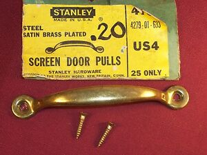 Vintage Stanley Hardware Door Pulls For Screen Doors Drawers Gate Cottage