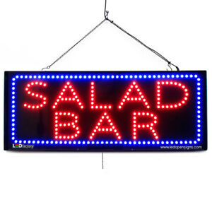 High Quality Large Led Open Signs Salad Bar 13 x32 Led factory 2693