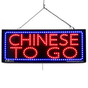 High Quality Large Led Open Signs Chinese To Go 13 x32 Led factory 2695