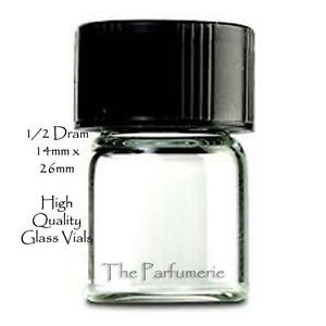 Glass Sample Vials W Black Cap 1 2 Dram 1 848 Ml 14x26mm Aromatherapy 144 288