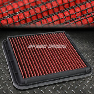 For Lexus Gs300 Is300 3 0l Red Reusable Washable Drop In Air Filter Panel