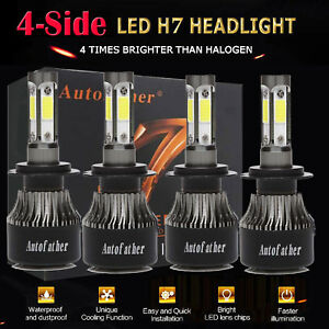 H7 H7 4pcs Led Headlight Kit 320w 32000lm High Low Beam Bulb 6000k Xenon White