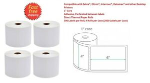 Direct Thermal Shipping Labels 500 4 X 6 1 Core Fedex Usps Ups 4 Rolls