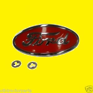 Ford Tractor 8n16600a Emblem Front Hood Grille Chrome Plate W Red Backround 8n