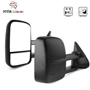 Manual Towing Mirrors Extendable For 99 06 Chevy Silverado Sierra 1500 2500