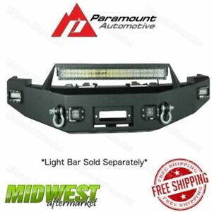 Paramount Black Led Winch Front Bumper Fits 2007 2013 Chevrolet Silverado 1500