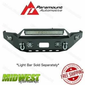 Paramount Led Winch Ready Black Front Bumper Fits 2010 2013 Toyota Tundra