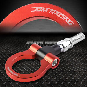 For 09 13 Honda Fit 7 M18 X 2 5 T 6061 Aluminum Red Front Rear Tow Hook Ring