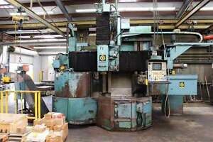Giddings Lewis 36 4 axis Cnc Vertical Boring Mill 25435