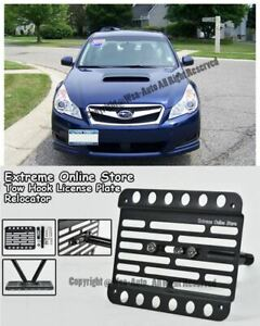2010 up For Subaru Legacy Front Bumper Tow Hook License Plate Kit Relocation
