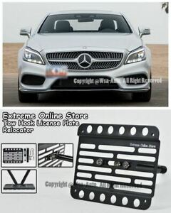 11 up For Mercedes Benz Cls class No Pdc Front License Plate Tow Hook Mount W218