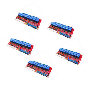 5pcs 5v 8 ch Relay Module With Optocoupler H l Level Triger For Arduino