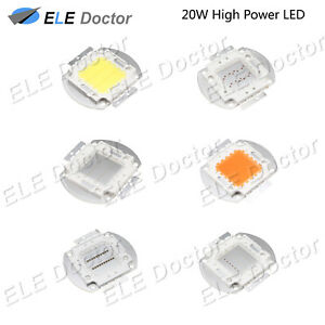 20w Watts High Power Smd Cob Led Chip Lights Beads White Red Blue Uv Lamp Board