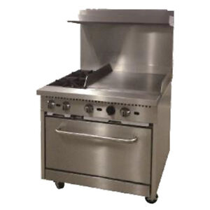 Comstock Castle R6 24 Gas 36 Restaurant Range With 24 Griddle 150 000 Btu