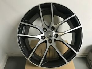 19 Staggered Mustang Gt Style Gunmetal Wheels Rims Fits Ford Mustang Gt