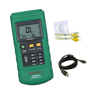 Digital Thermocouple Thermometer Dual channel Lcd Temperature Meter Tester