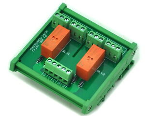 Din Rail Mount Passive Bistable latching 2 Dpdt 8a Power Relay Module 24v Ver