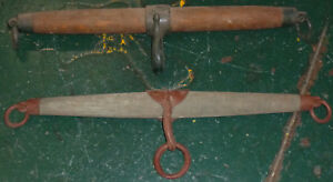 Lot Of 2 Antique Wood Iron Horse Mule Oxen Harness Collar Yoke Appx 24 Long