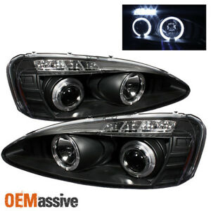 Fits 2004 2008 Pontiac Grand Prix Black Halo Projector Led Headlights