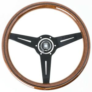 Nardi Classic Wood Steering Wheel W Black Spokes Horn Button 340mm 13 38 In