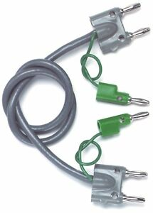 Pomona 1167 Double Banana Plugs On Shielded Balanced Line 5 Cable Lengths