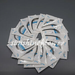 100 Packs Dental Orthodontic Stainless Steel Rectangular Arch Wire Oval nature