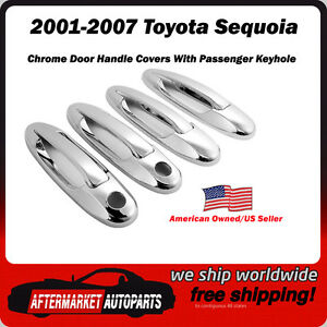 2001 2007 Toyota Sequoia Chrome Door Handle Trim Covers Usa Seller Shipper