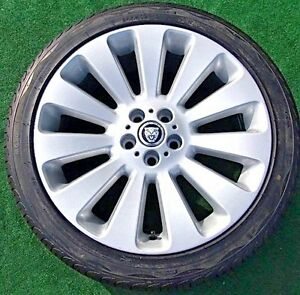 Set Of 4 Excellent Genuine Oem Factory Jaguar Xf Auriga 19 Inch Wheels New Tires