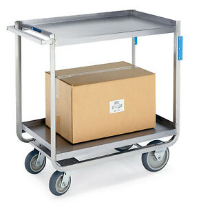 Extreme Duty Stainless Steel Utility Cart 21 1 4 X 36 1 2 X 37 1 4 1 Ea