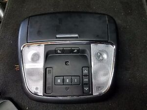 2014 Dodge Charger Srt 8 Black Over Head Console Homelink Sunroof Dome Light